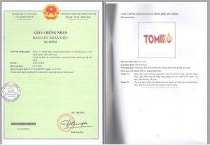 Sản phẩm Tomi đã được đăng ký